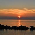 明神岬から観る夕陽