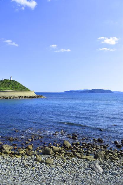 由良海岸から紀淡海峡を見る
