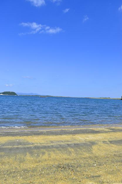 由良海岸の砂浜