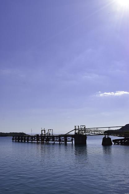 残された土取り桟橋