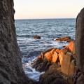 Photos: 夕陽に染まる明神岬
