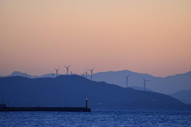 日暮れの西海岸