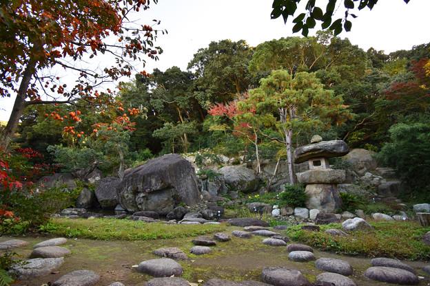 秋の旧益習館庭園