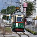 Photos: 元オーストリアグラーツ市電の試運転とスライド。この区間の乗り入れは珍しい。