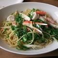 Photos: たっぷりずわい蟹と九条ネギの塩ダレパスタ