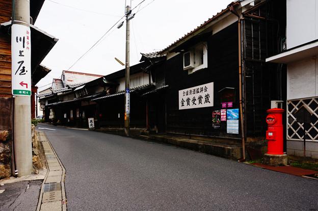 中津川の街並