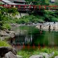 Photos: 赤い吊橋