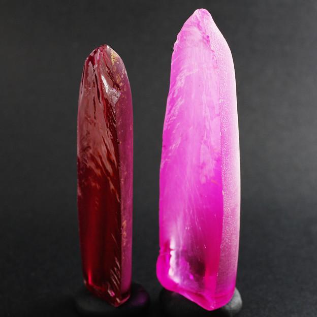 合成ルビー&ピンクサファイア原石
