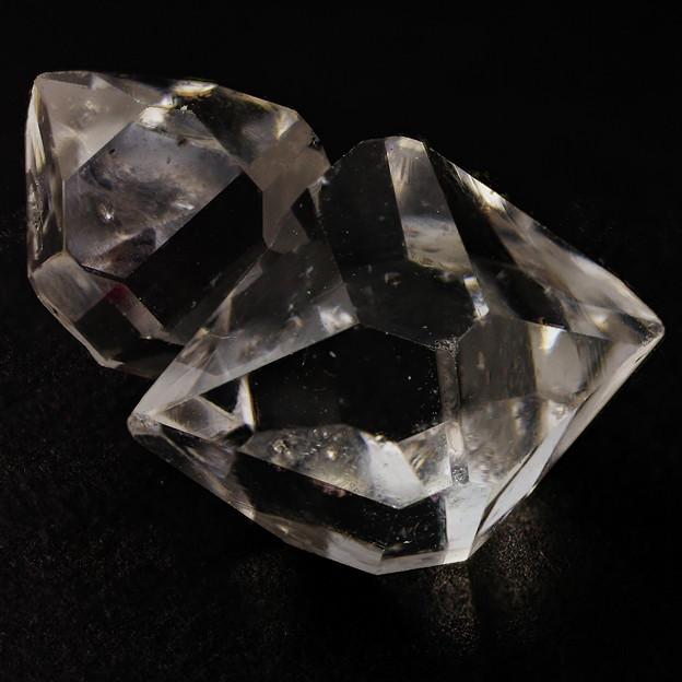 二連ハーキマーダイヤモンド