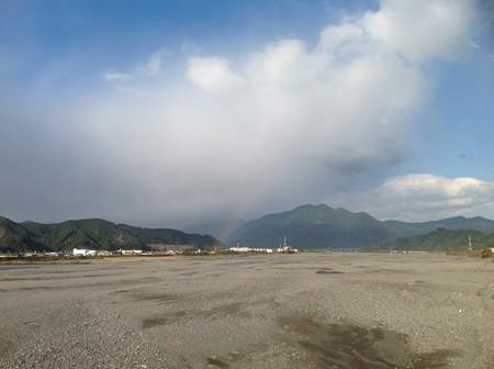 安倍川と虹