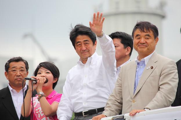 Photos: 安倍首相と遠藤代議士