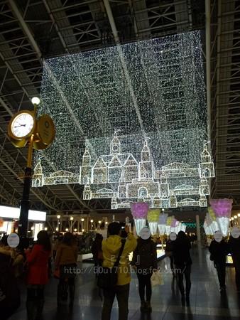 131229-大阪駅 時空の広場(夜) (1)