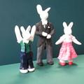 クレイウサギ 記念写真
