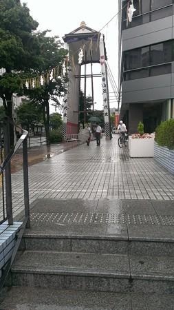 2013年飾り山おすすめ見学ルート07千代県庁駅飾り山建設中
