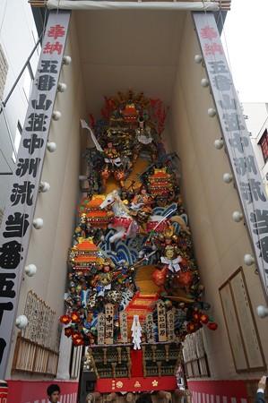09 博多祇園山笠 2013年 中洲流 飾り山 合戦石垣原 写真05
