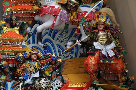 09 博多祇園山笠 2013年 中洲流 飾り山 合戦石垣原 写真09
