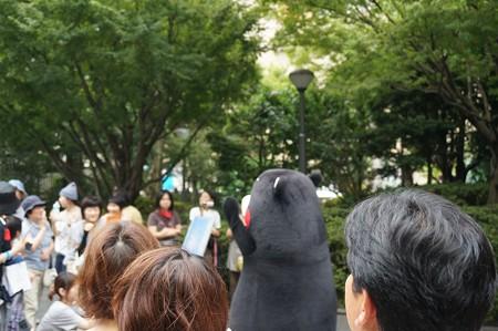 2013年7月26日 福岡市役所ふれあい広場 山鹿市観光物産展 山鹿灯籠まつり くまモン03