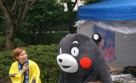 2013年7月26日 福岡市役所ふれあい広場 山鹿市観光物産展 山鹿灯籠まつり くまモン17
