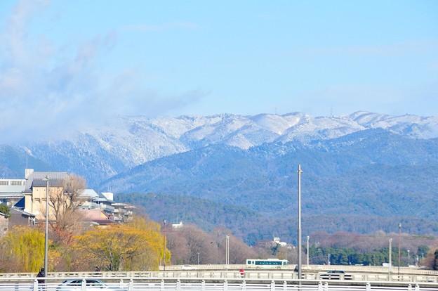 山は白くなっていました