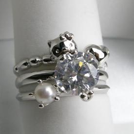 【Milky Heart Ring (ミルキーハート リング 指輪)】