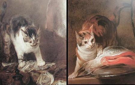 シャルダンのねこ,ネコ,猫,拡大