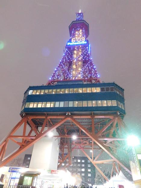 札幌市大通~さっぽろ雪まつり限定ライトアップテレビ塔01