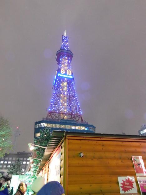 札幌市大通~さっぽろ雪まつり限定ライトアップテレビ塔02
