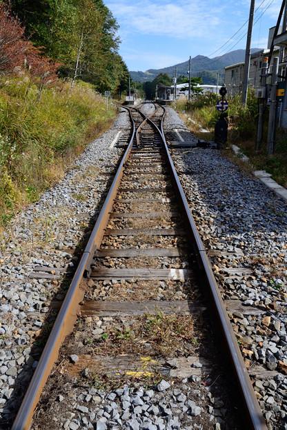 清里駅へ続く軌道