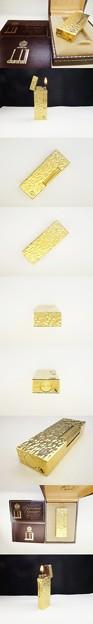 ダンヒル 金箔柄 ゴールド ローラー ガス ライター