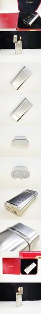 Photos: 【新型】カルティエ 2C ロゴ ゴドロン  パラジウム ライター