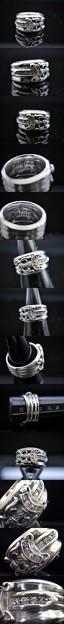 CHROME HEARTS クロムハーツ ダガーリング  ダイヤモンド SV925 19号
