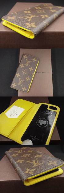 ルイヴィトン 携帯ケース 携帯カバー M61908 iphone7 フォリオ ジョーヌ イエロー