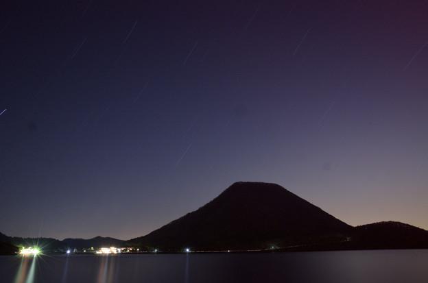 榛名湖の星景