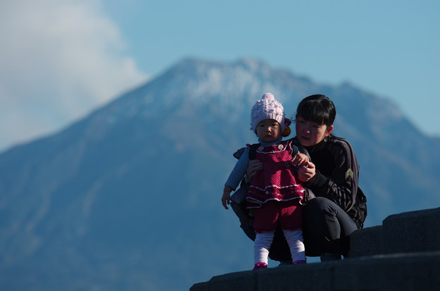 写真: 桜島のように美しく成れ