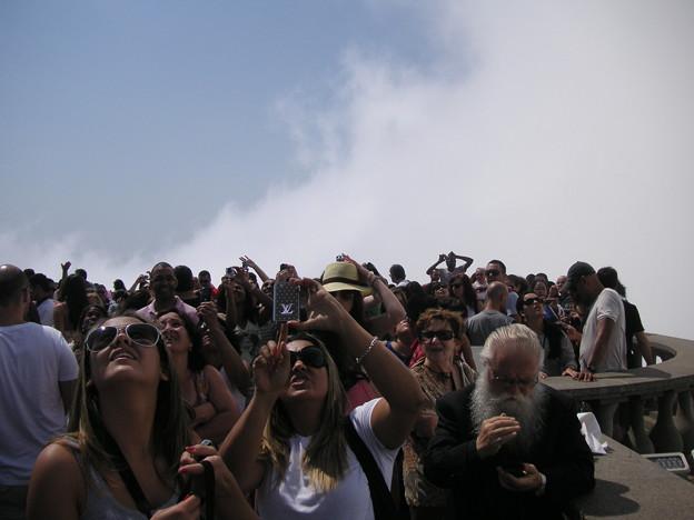 コルコバードの丘の観光客2
