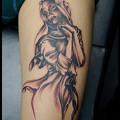 マリア,天使,女神,タトゥー,大阪/刺青,tattoo/ブラック&グレー