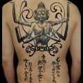 大阪 タトゥー 刺青 ブラック&グレー 背中一面 阿修羅_刺青画像/トライバル/文字タトゥー