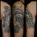 大阪 タトゥー 刺青 刺青画像 龍 タトゥーデザイン ブラック&グレー