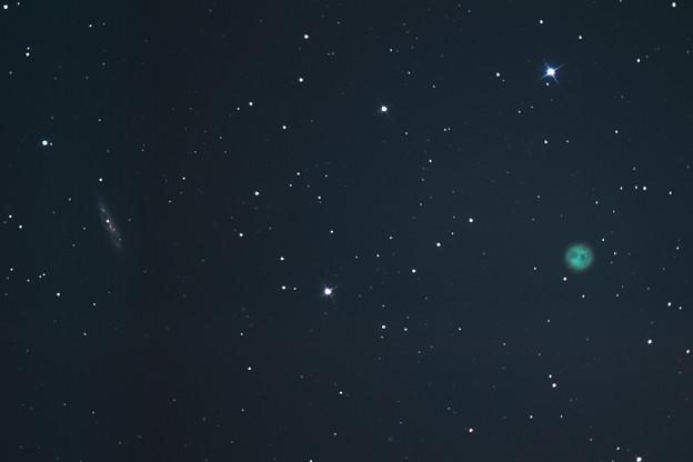 ふくろう星雲M97とM108銀河(^^)