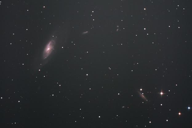 りょうけん座の銀河M106、NGC4217付近(^_^;)