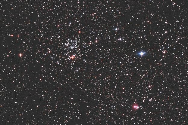 散開星団M50とVdb87(^^)