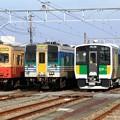 Photos: 新旧久留里線の並び