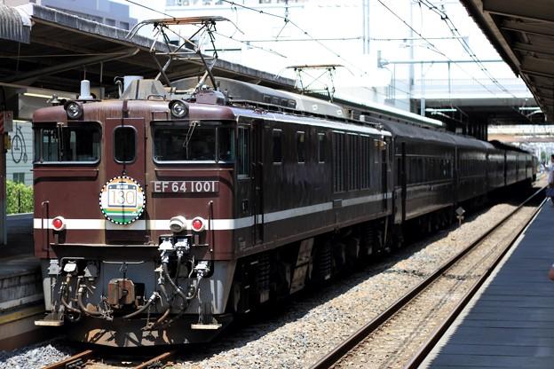 9830レ EF64 1001+旧型客車 6両+EF64 37