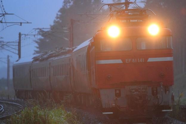 Photos: 配9102レ EF81 141+485系盛モリ「ジパング」編成 4両