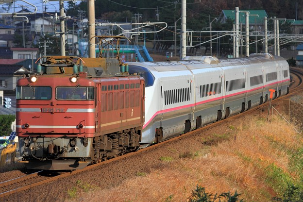 Photos: 9560レ EF81 716+E3系秋アキR24編成 6両