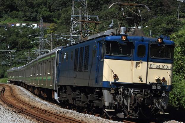 Photos: 配9793レ EF64 1031+205系横クラH22編成 8両