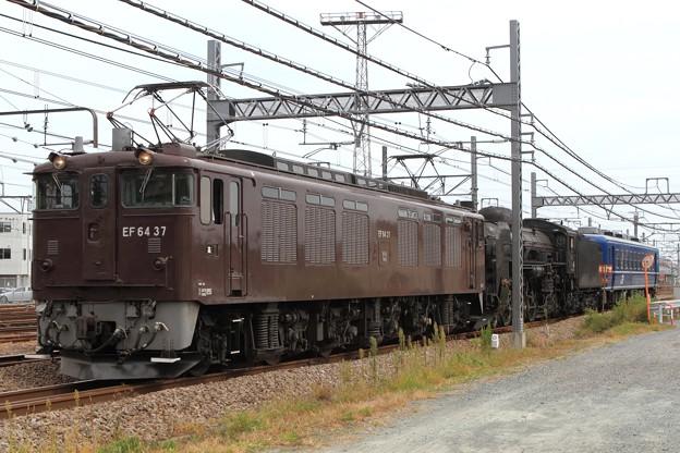 配9749レ EF64 37+C61 20+オヤ12-1