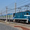 臨貨8018レ デキ103+東武60000系61616F+デキ502