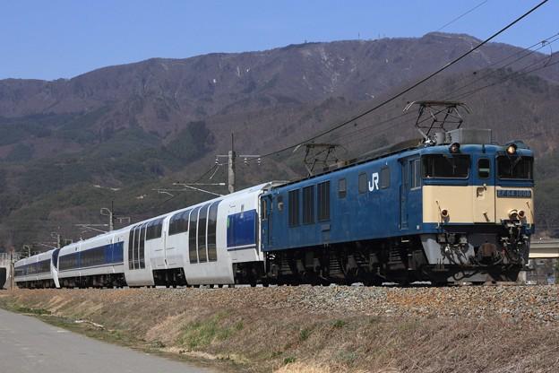 8465レ EF64 1006+(元)371系静シスX1編成 7両