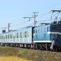 臨貨8018レ デキ303+東武60000系61618F+デキ506